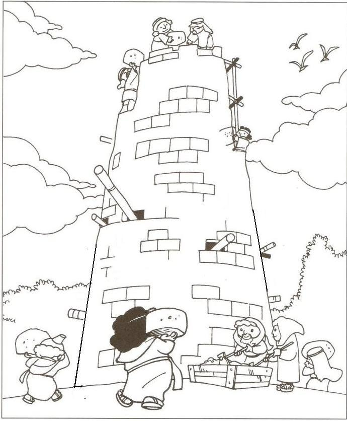 tower of babel coloring pages for kids tower of babel tower of babel drawings