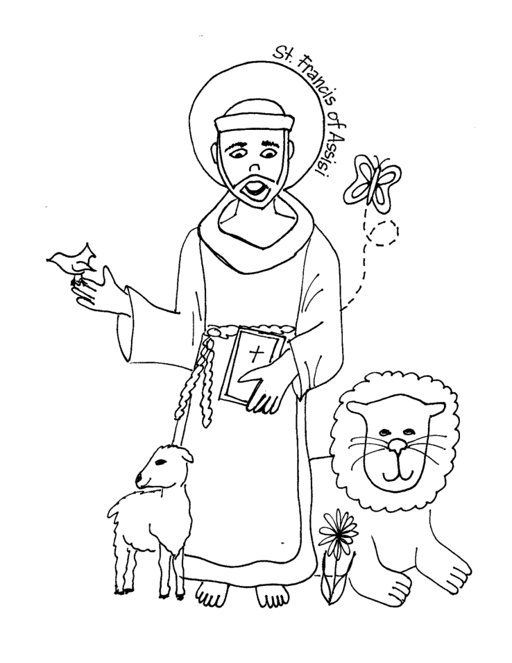 coloring saints pages for kids - photo#4