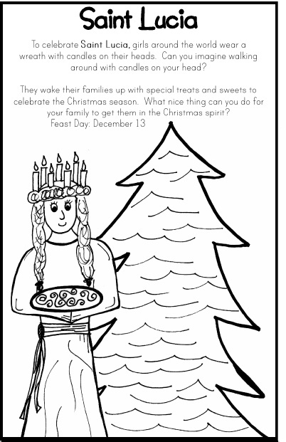 st lucias day coloring pages - photo#32