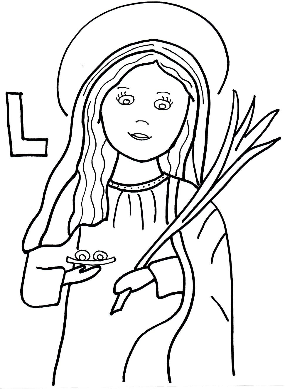 coloring saints pages for kids - photo#14