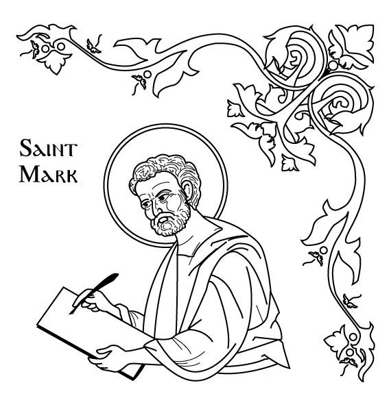 coloring saints pages for kids - photo#16