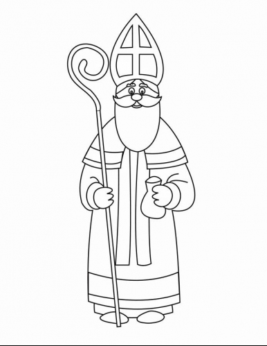 Saints Coloring Pages Printable Catholic Saints St Nicholas Coloring Page