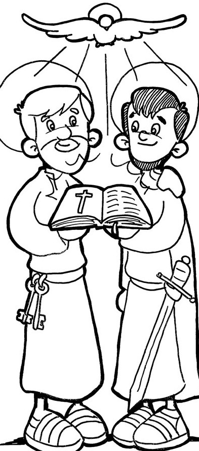 st peter coloring pages - photo#13