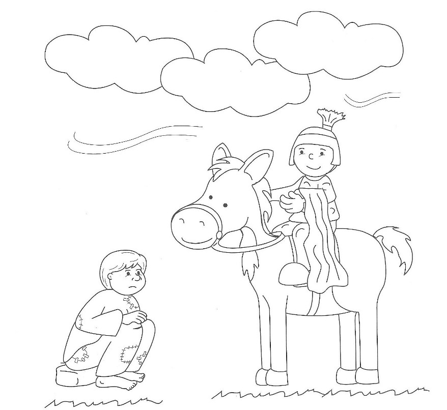 st martin of tours coloring page coloring pages