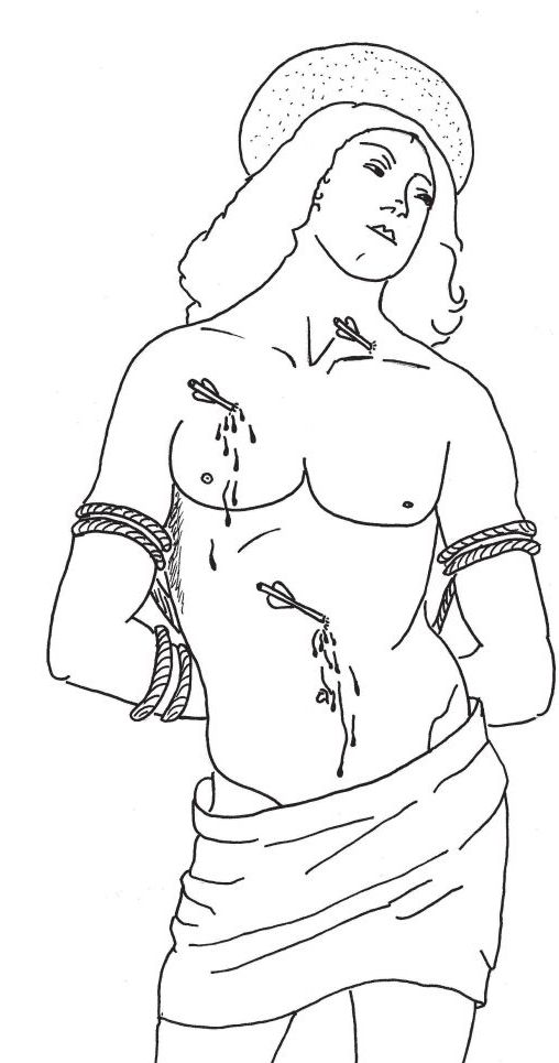 st sebastian coloring pages - photo#2