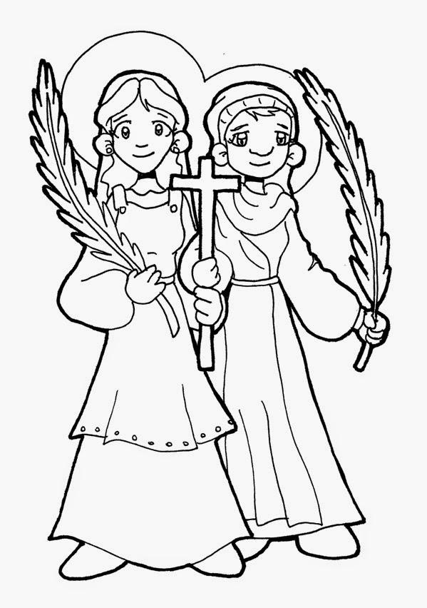 Saints Coloring Pages Printable Catholic Saints