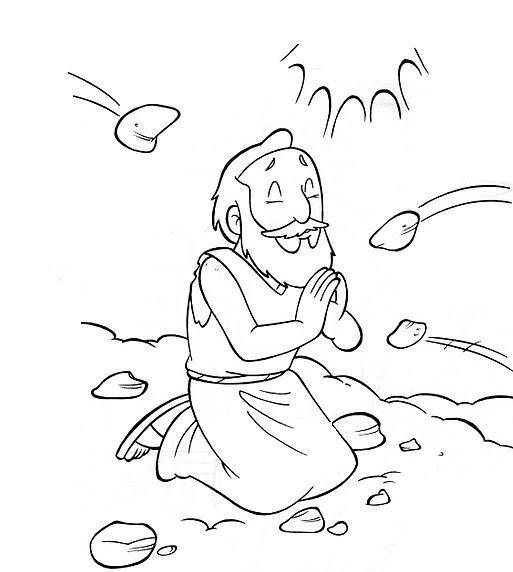 bible coloring pages stephen - photo#2